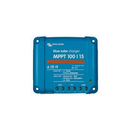 Reguladores MPPT 100/15A 12/24V VICTRON Blue Solar