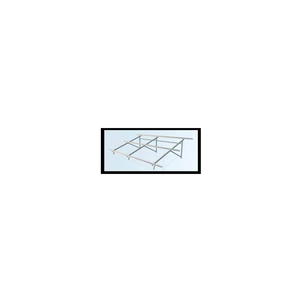 Estructura cubierta plana 2 módulos a 30º