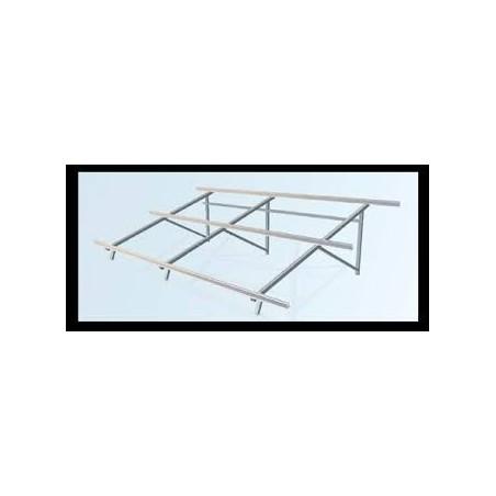 Estructura cubierta plana 3 módulo a 30º