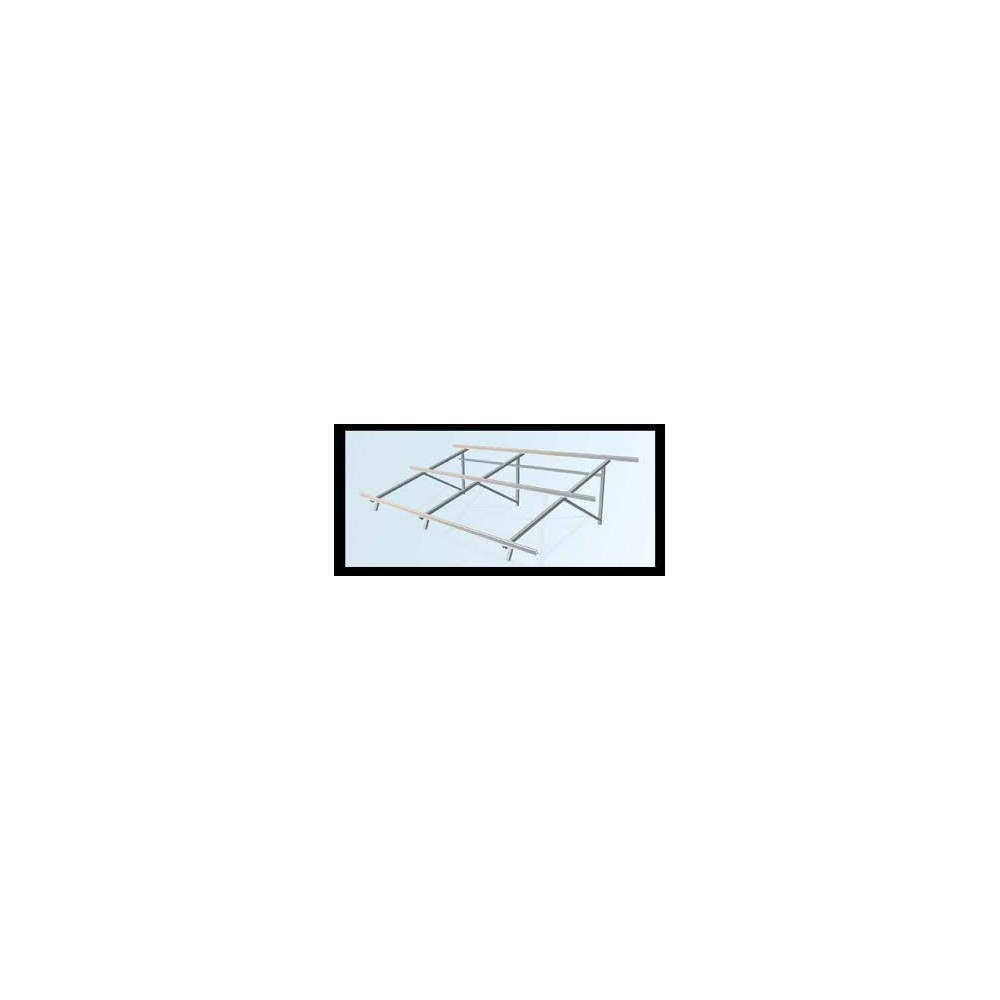 Estructura cubierta plana 4 módulos a 30º