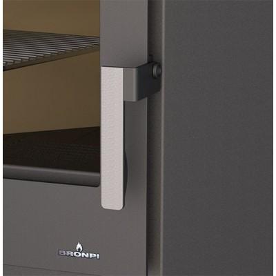 Estufa de leña BRONPI modelo SENA PLUS detalle tirador