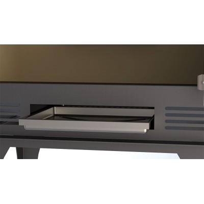 Estufa de leña BRONPI modelo SENA PLUS detalle cajón cenizas